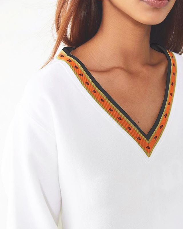 Seam details for NHL Ducks apparel. The overall line was inspired by subtle and minimal color blocking.
