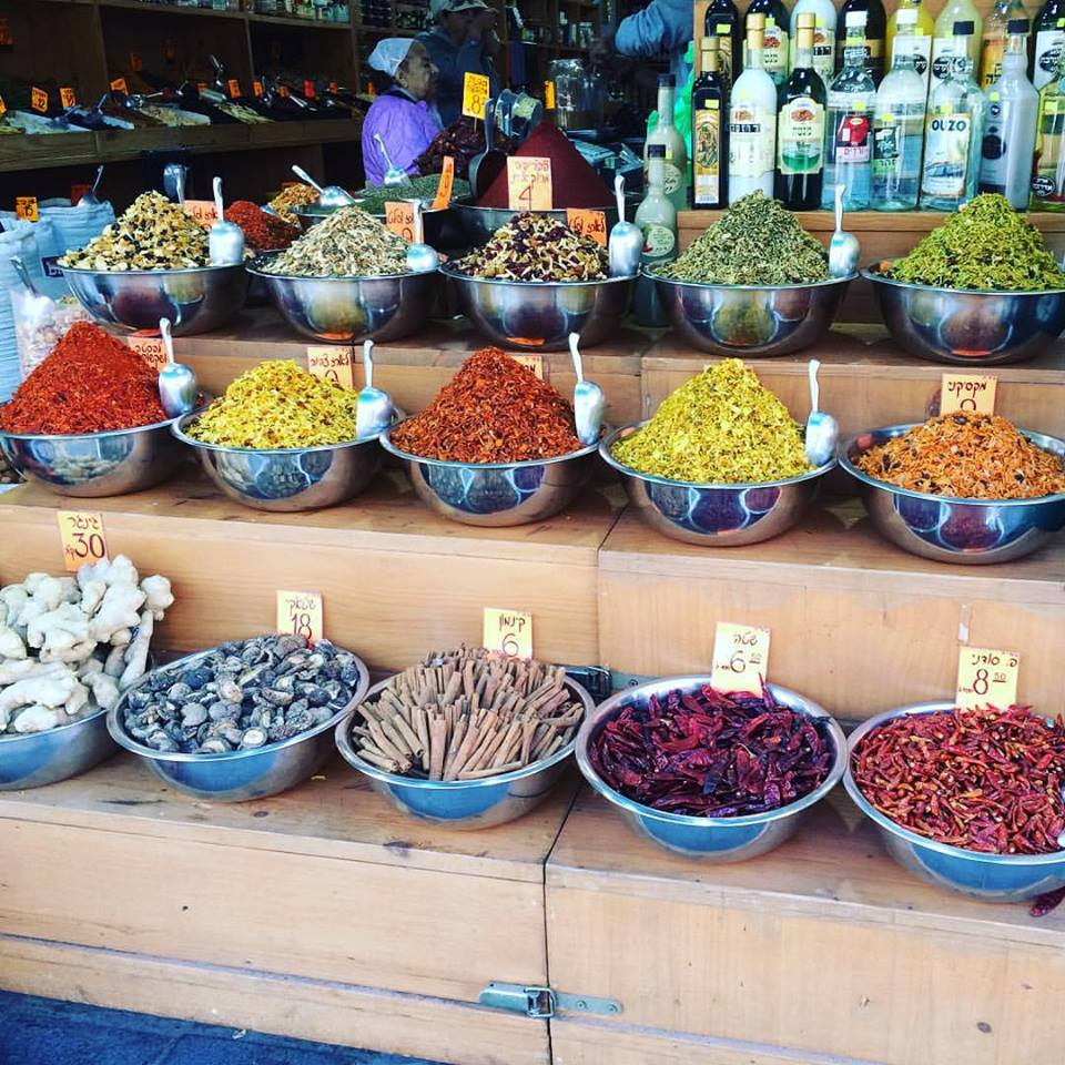 Israeli spices at their best in the Mahane Yehuda shuk (Jerusalem)