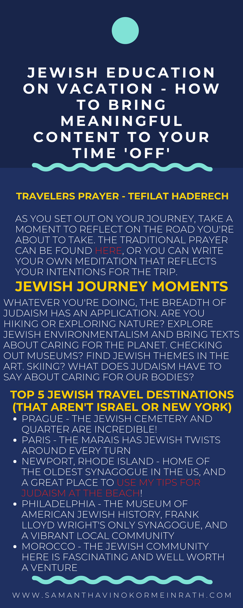 Jewish education on vacation