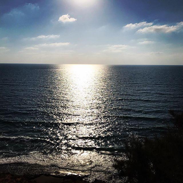 Doesn't get much better than this! #israel #mediterranean_sea #beach