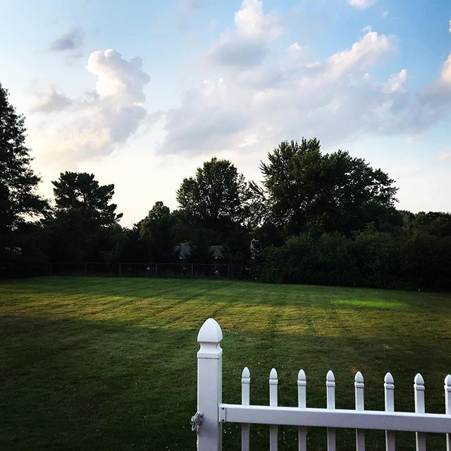 Living that white picket fence life #backyard #pepperpike #ohio #cleveland