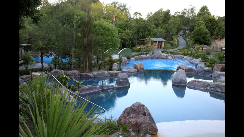 Sooth away your aches and pains at Wairakei Terraces Hot Pools