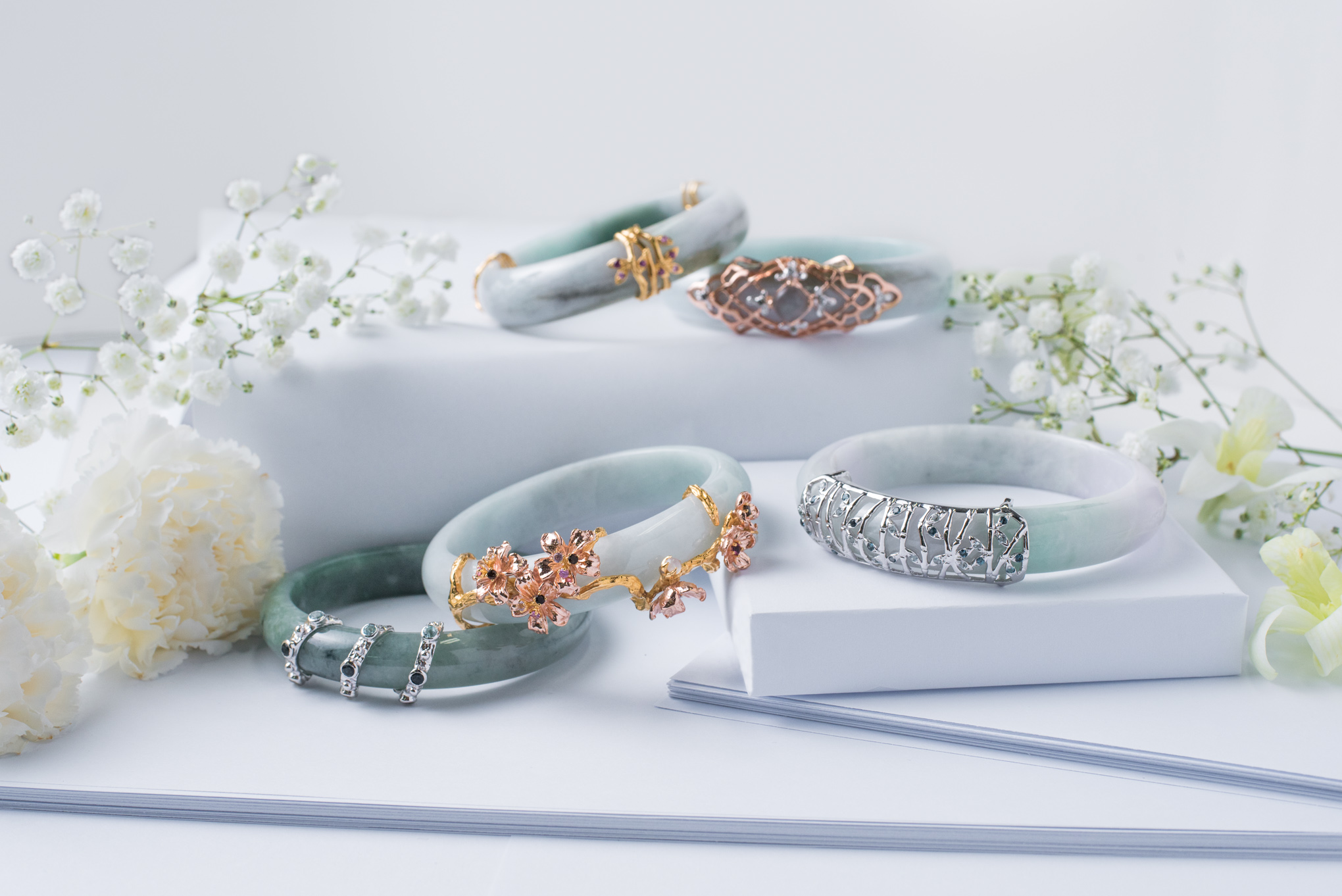 The most coveted of them all, the iconic Choo Yilin Jade Bangles.