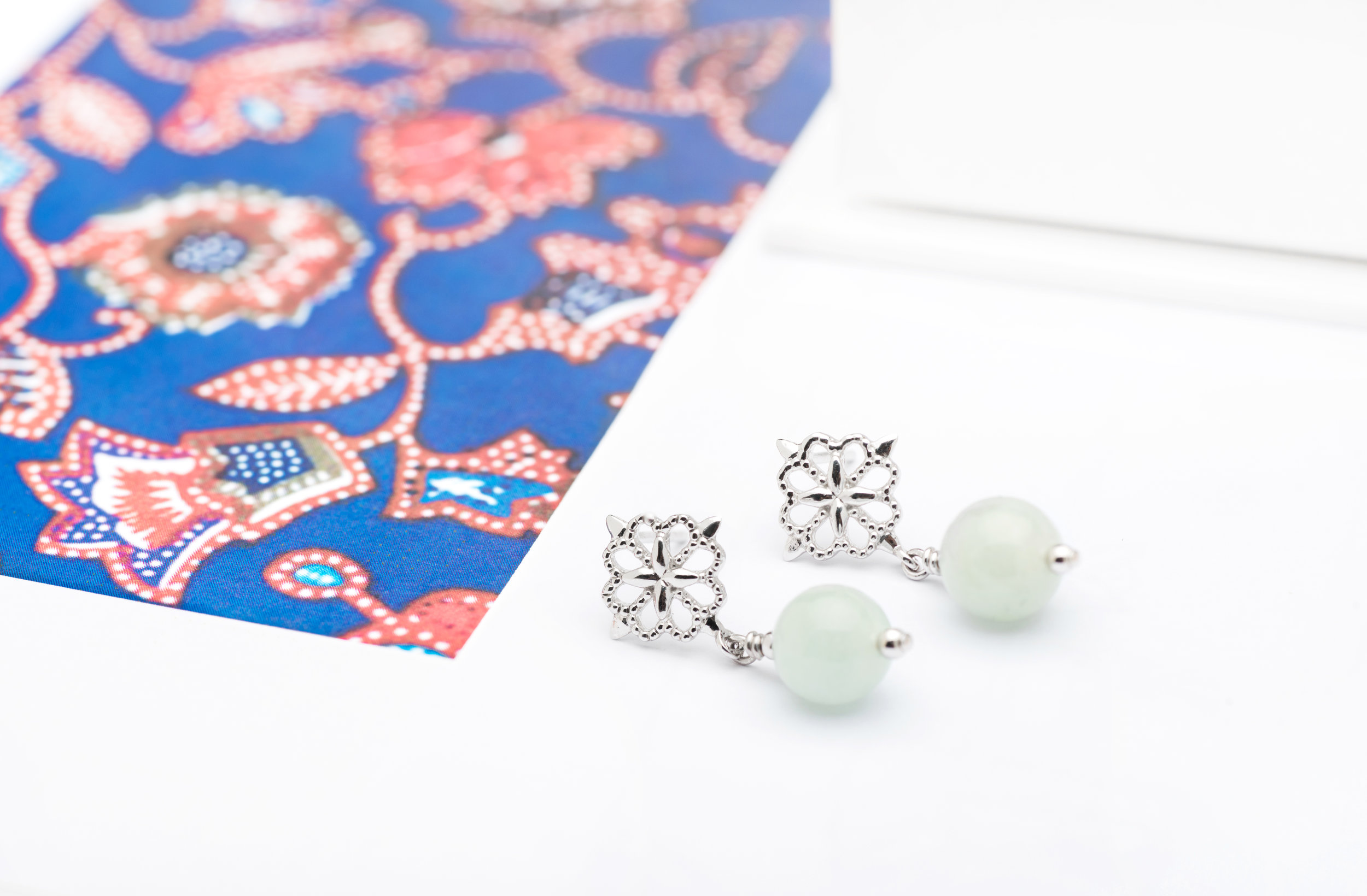 The Choo Yilin x Singapore Airlines Batik Jade Earrings