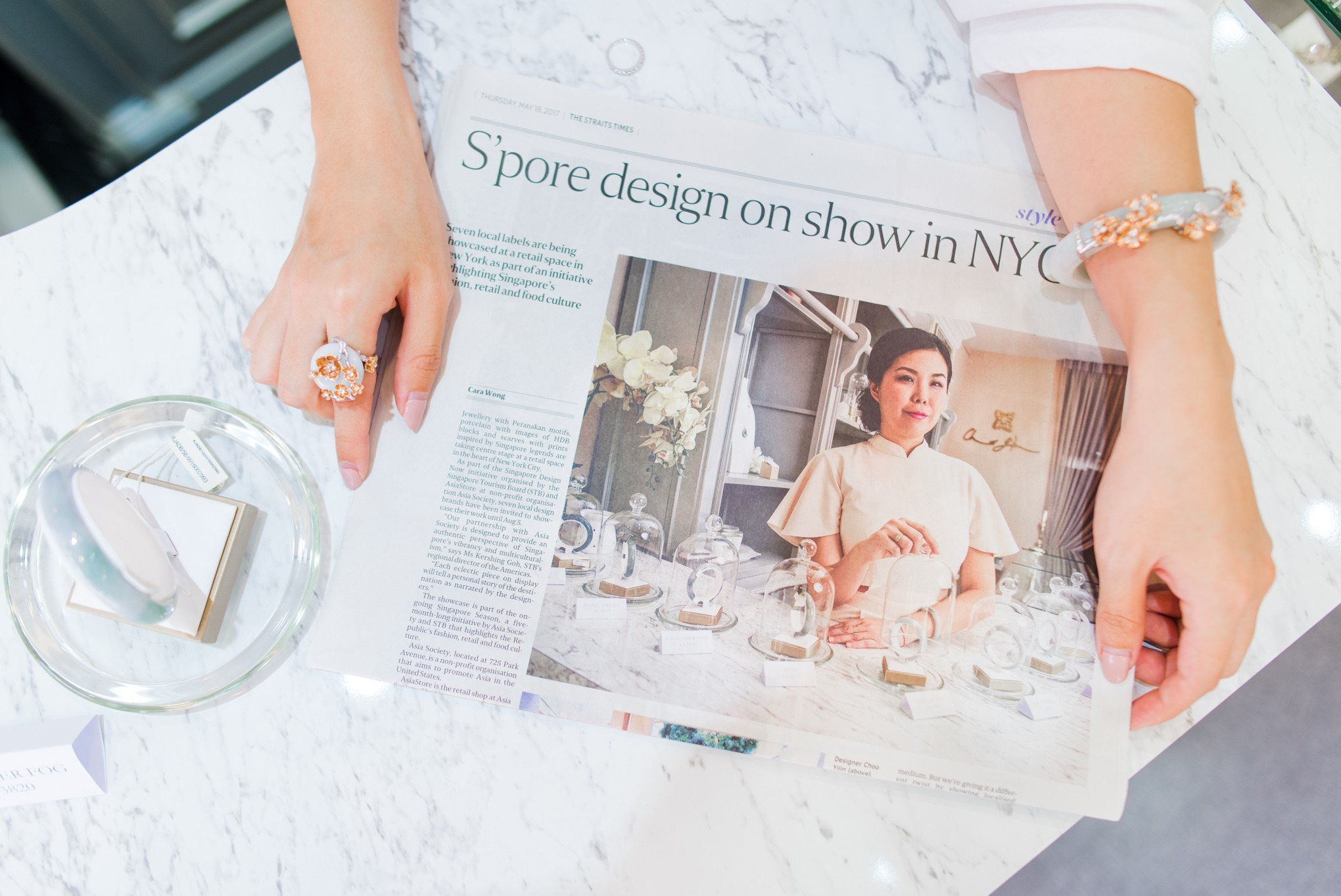 Choo Yilin featured in The Straits Times