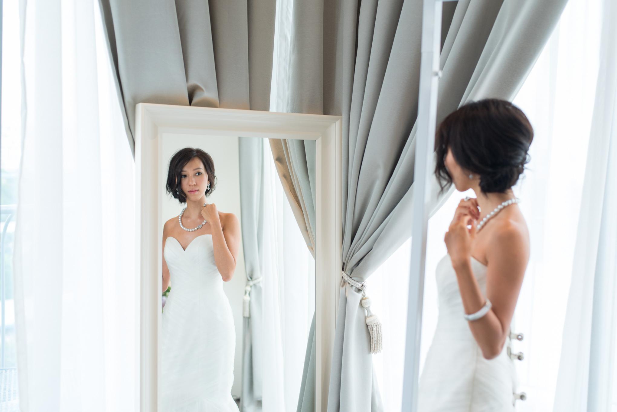 Behind the scenes of the Choo Yilin X Melissa Celestine Koh Wedding Styled Shoot (Gown: JessicaCindy, Location: Chapel @ Imaginarium)