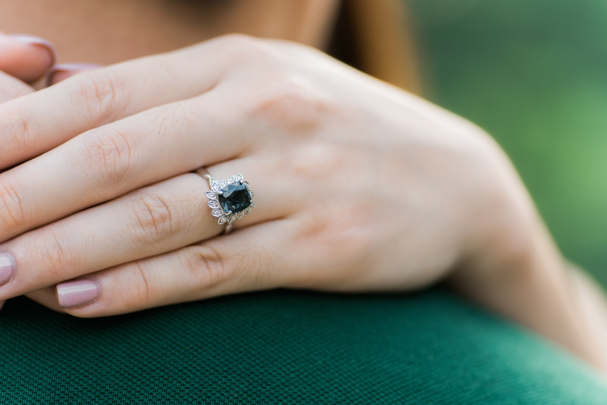 Choo Yilin Bespoke Emerald Engagement Ring inspired by Game of Thrones