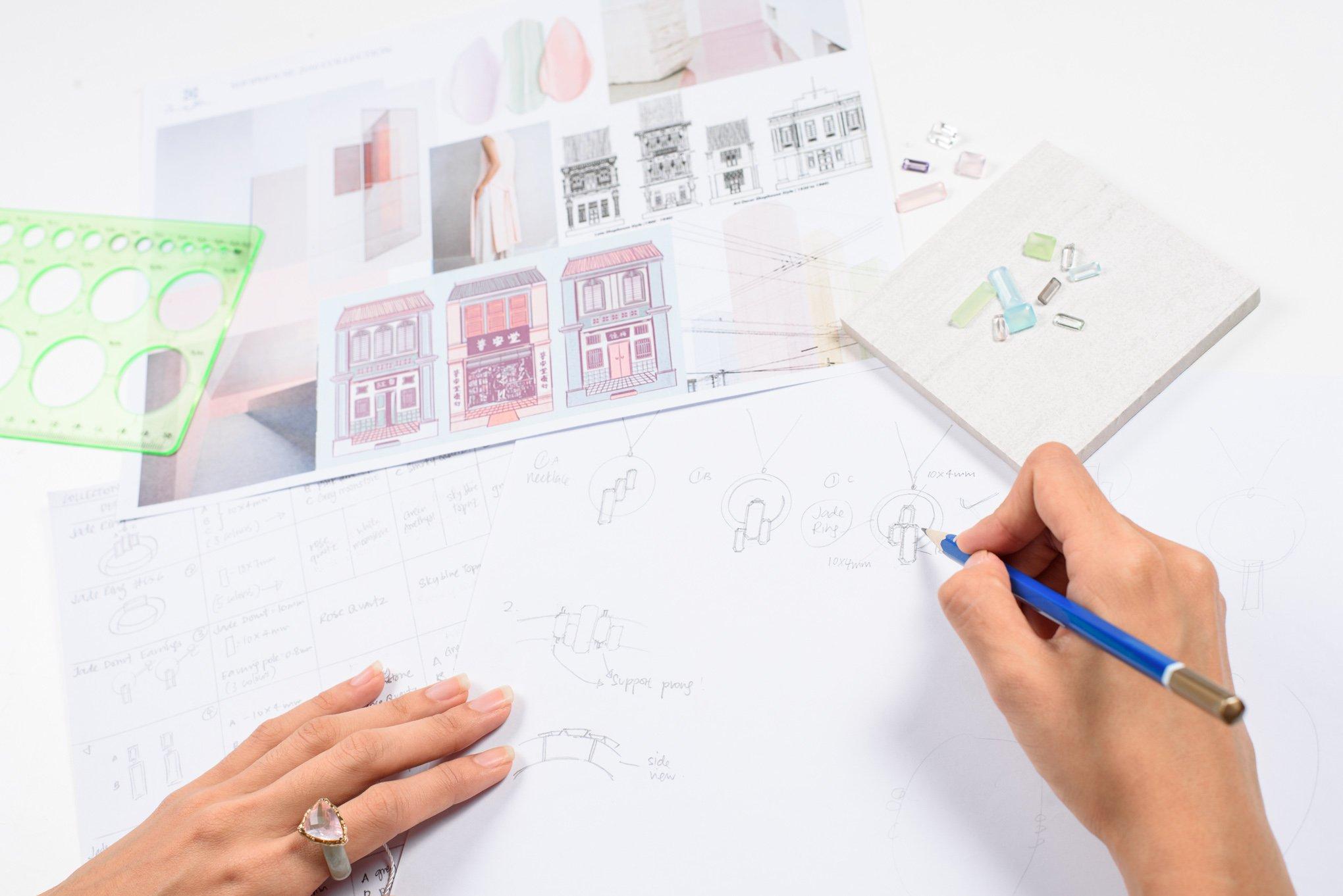 Choo Yilin jewellery product design process