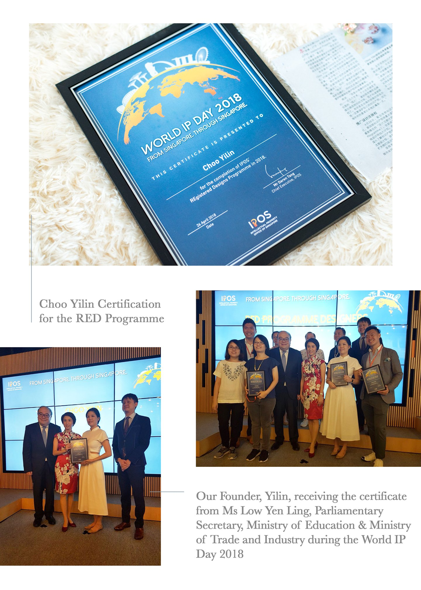 Choo Yilin at the World IP Day