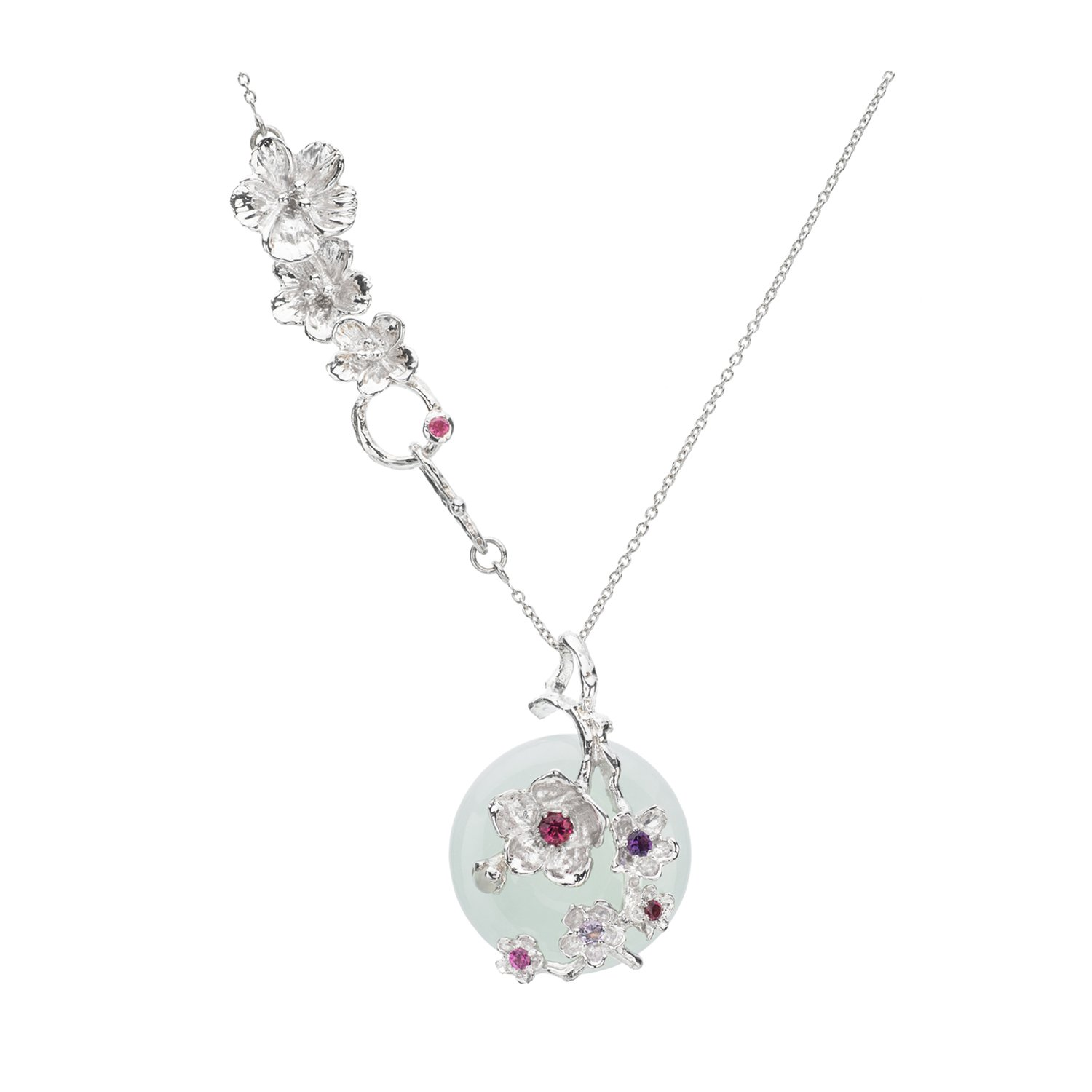Choo Yilin Cherry Blossom Branch Necklace