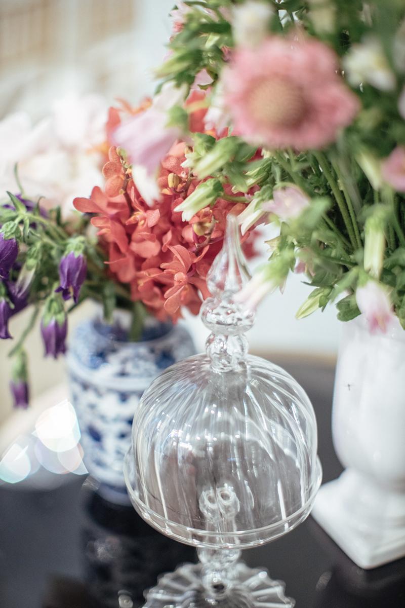 An Oriental Flower Buffet Bar