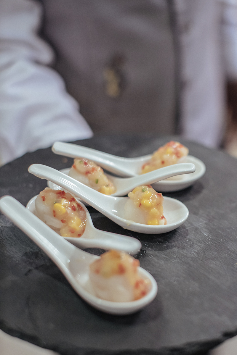 Oriental Canapes by the Ritz-Carlton Butler Service