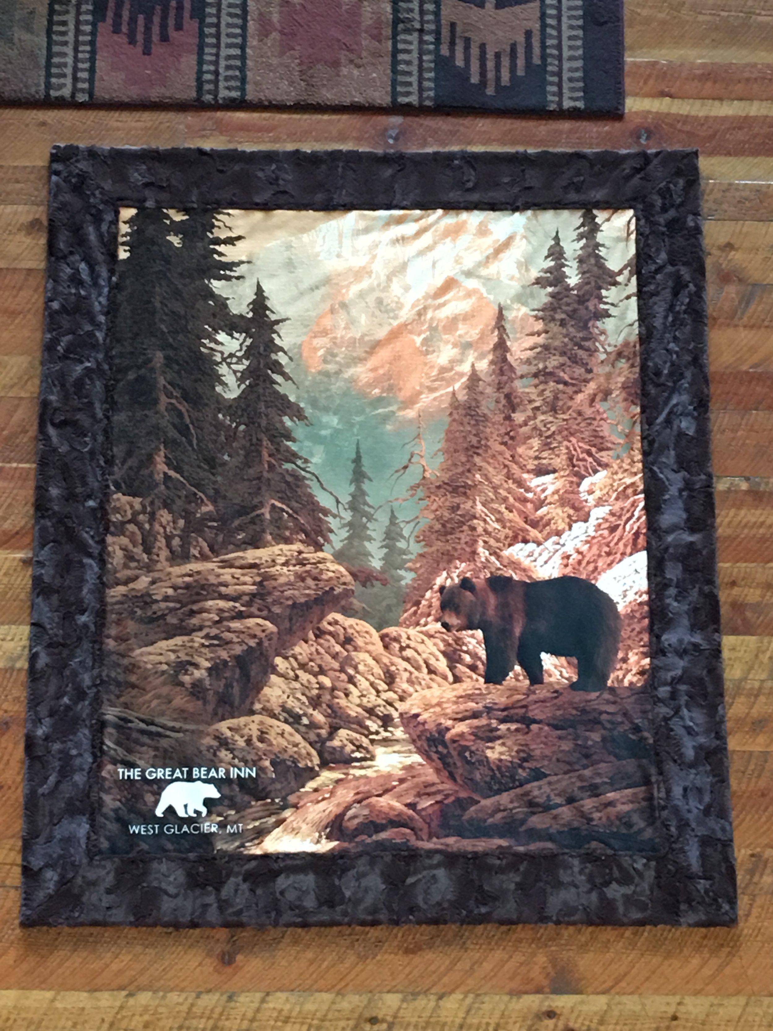 Great Bear Inn Minky blankets
