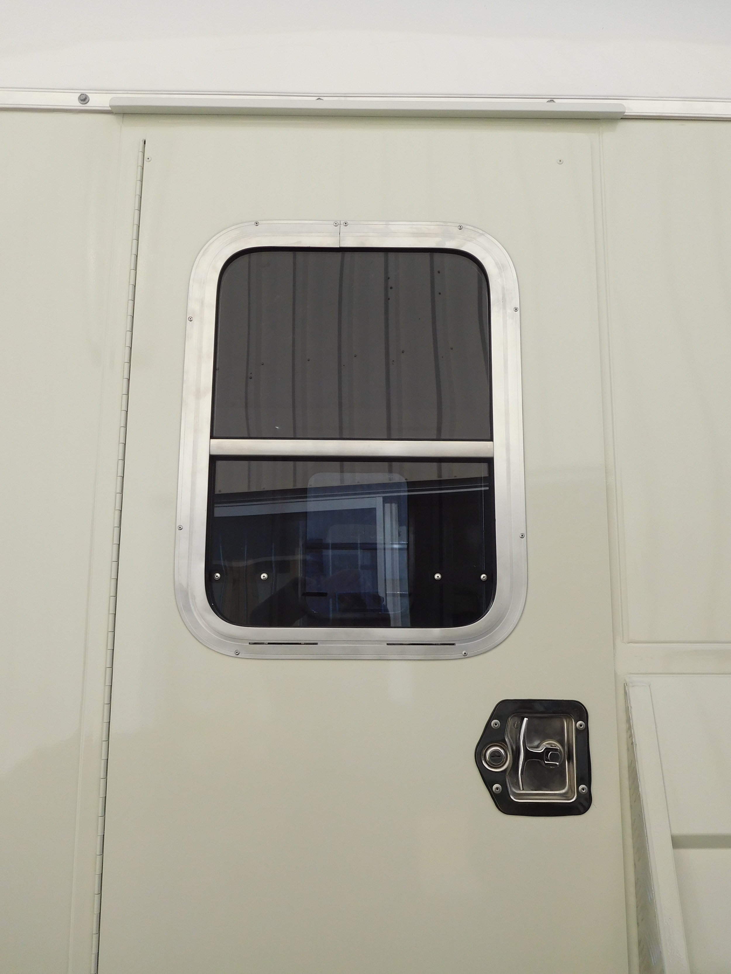 Vertical Window in Door