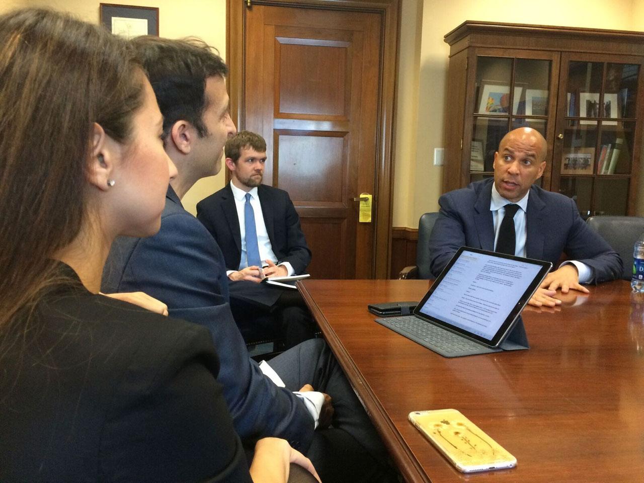 With Senator Cory Booker