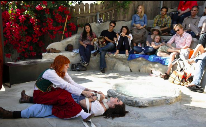 "A production of ""The Taming of the Shrew"""