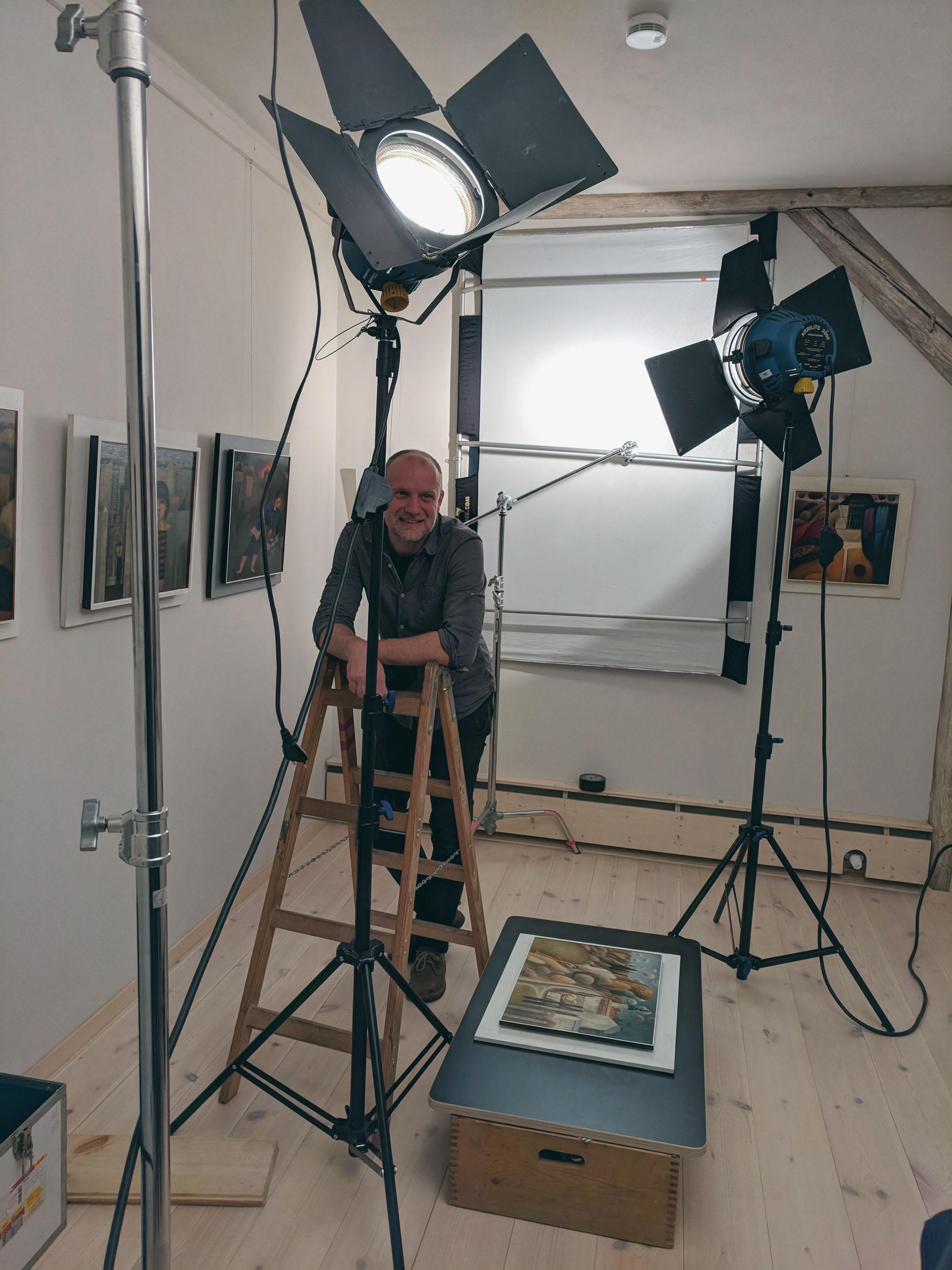 Film- und Fotoaufnahmen zur Ausstellung: René Plaul, Foto © ORLA e.V.