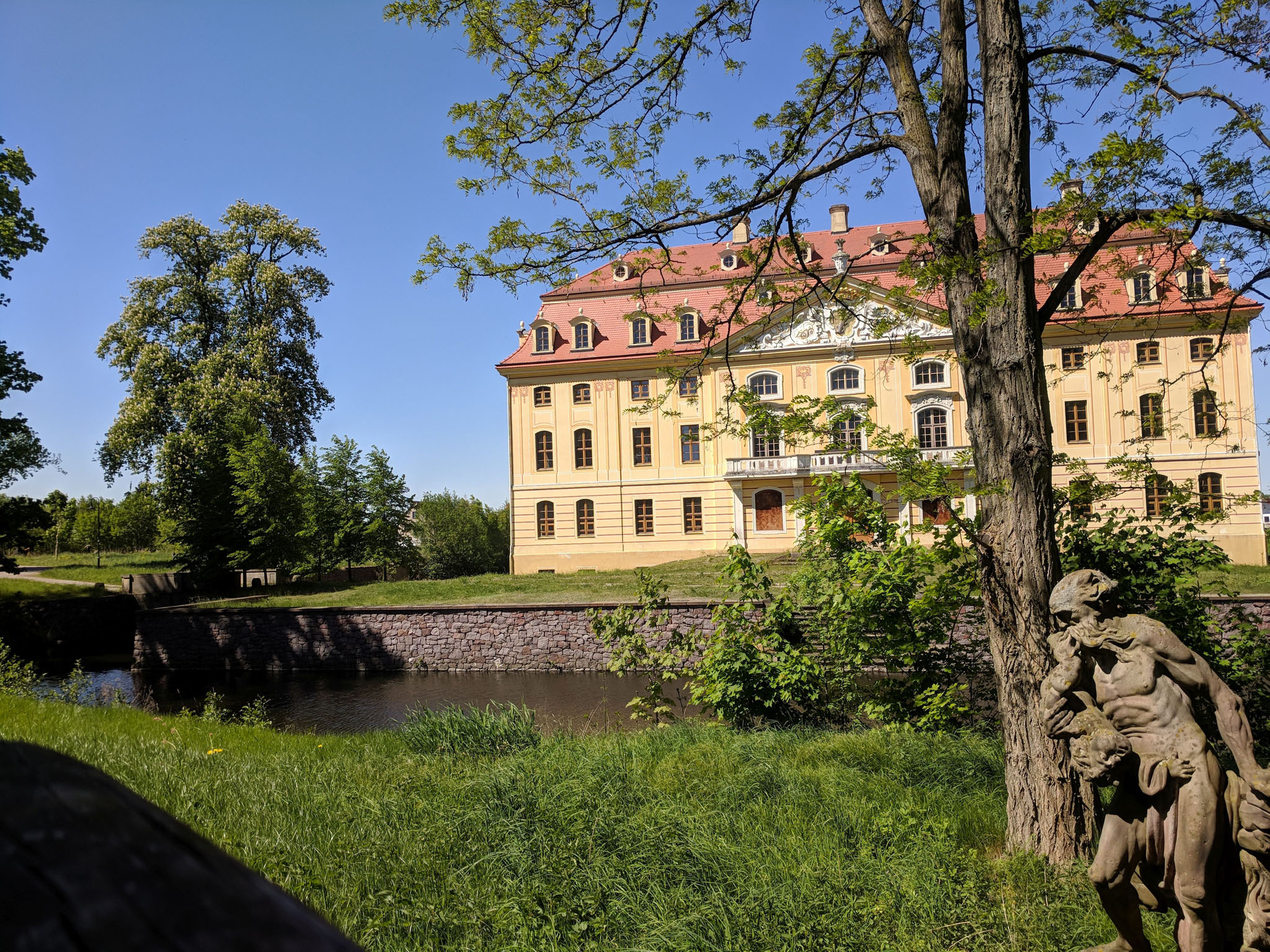 Wasserschloss Wachau . Frühjahr 2018.  Foto © ORLA e.V.