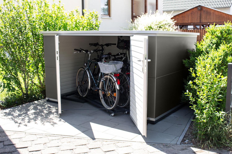 Box für 4 Fahrräder - Maße Korpus (BxTxH):2,60m x 1,90m x 1,50mab 3.999,00 €