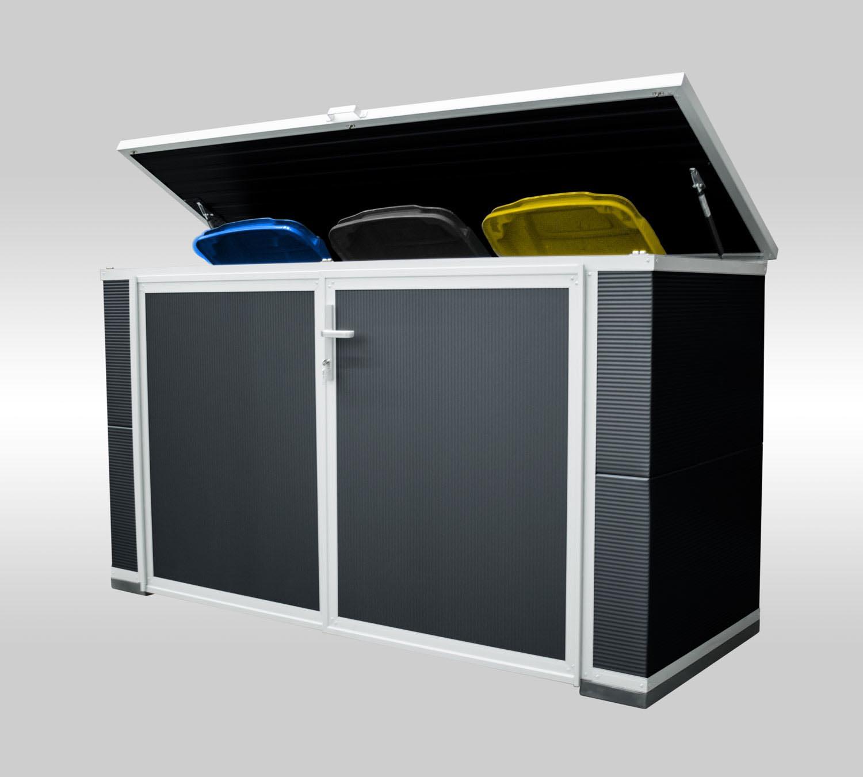 Box für 3 Mülltonnen: - Maße Korpus (BxTxH):2,30m x 0,90m x 1,20mAb 2.999,00 €