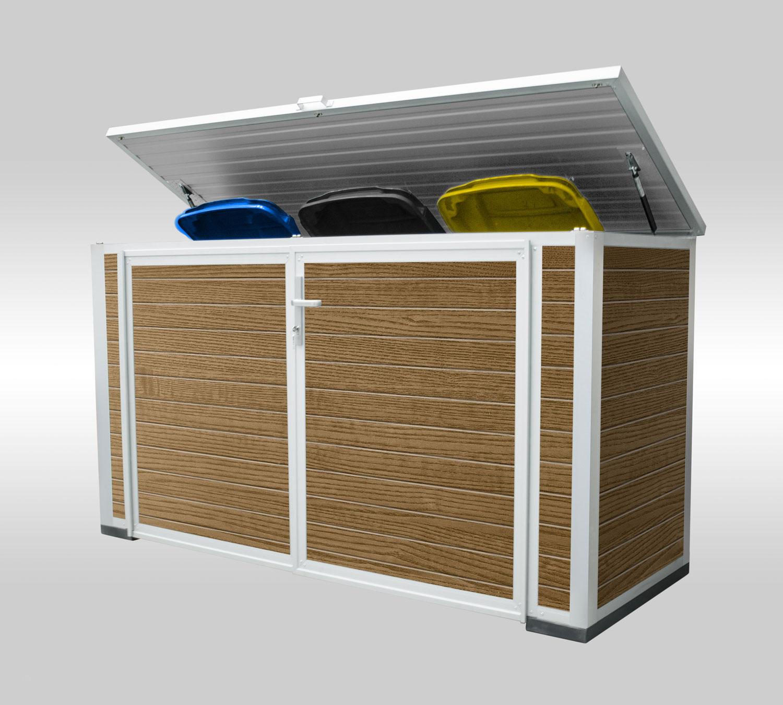 Box für 2 Mülltonnen - Maße Korpus (BxTxH):1,80m x 0,90m x 1,20mAb 2.699,00 €
