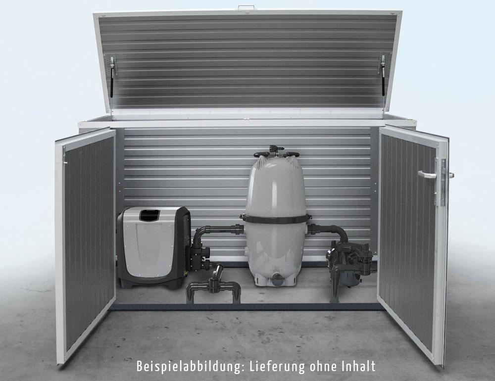 Poolbox - Maße: 1,80 m x 1,00 m x 1,10 mIndividuelle Abmessungen auf Wunschab 1.799,00 € oder komplett ausgestattet durch unseren Partner