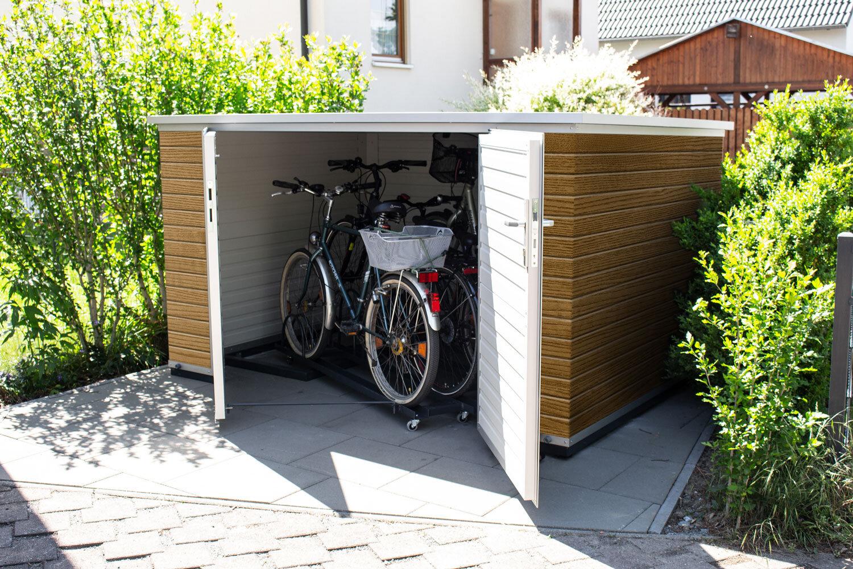 Box für 2 Fahrräder - Maße Korpus (BxTxH):2,40m x 1,30m x 1,50mab 3.499,00 €