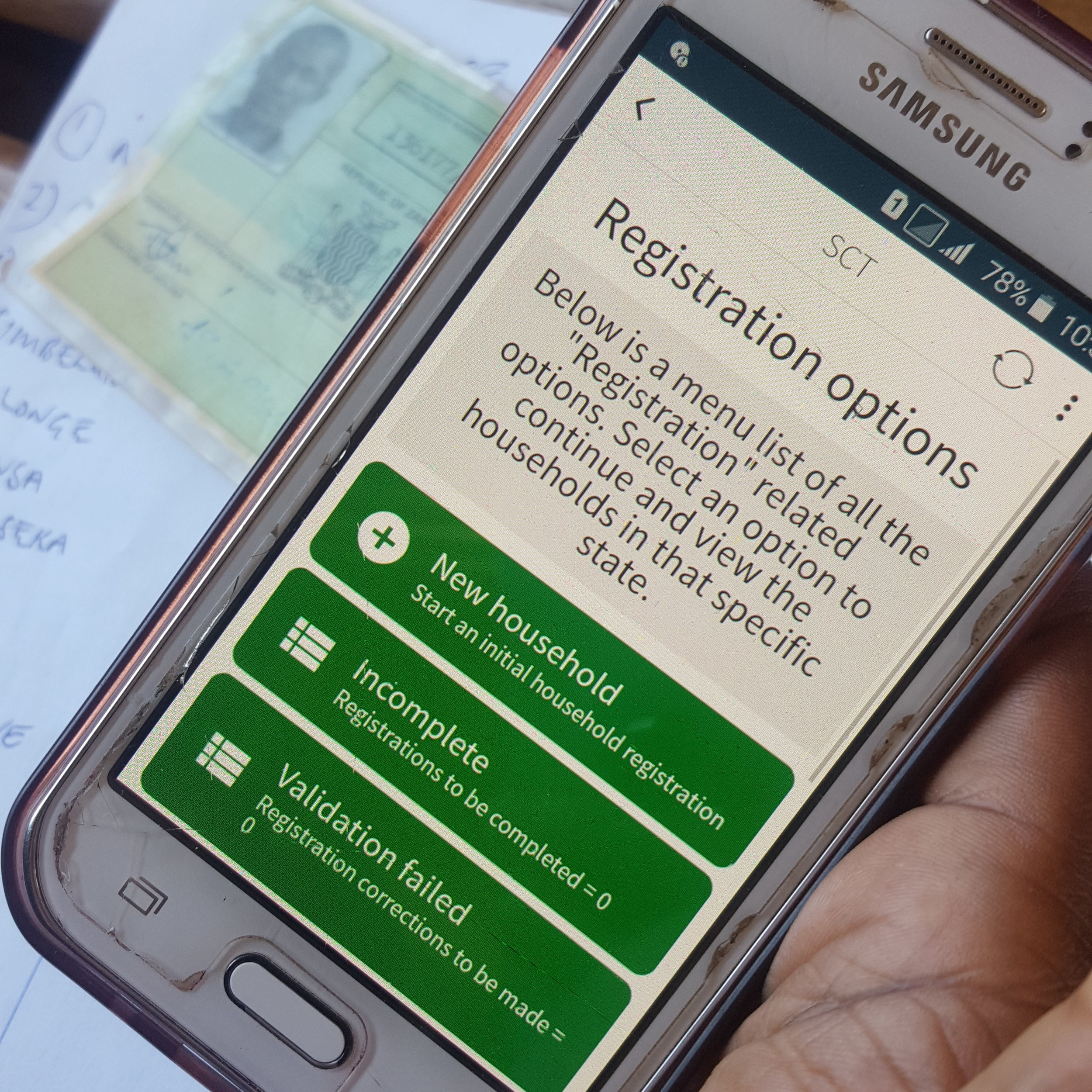 Household Census - Potential social grant beneficiaries are registered, screened and identified using this mobile application. District Social Welfare Management then validate the data using an online web portal. The process is completely digital and scraps the inefficiencies of previously adopted paper based solutions.