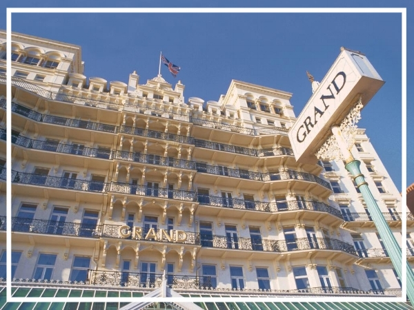 The Grand Brighton - 5* Luxury HotelAn iconic piece of British history, The Grand commands centre stage on Brighton's seafront. The hotel can effortlessly host large or small scale events of any kind to the highest standard and is a great choice to soak up the glorious sea air and enjoy this fantastic city!