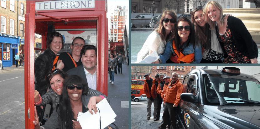 Taxi Treasure Hunt Team Building Photos