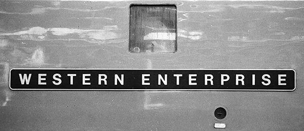 Name plate of D1000 at Swindon while on test on April 1, 1962. Picture © Adrian Curtis Collection