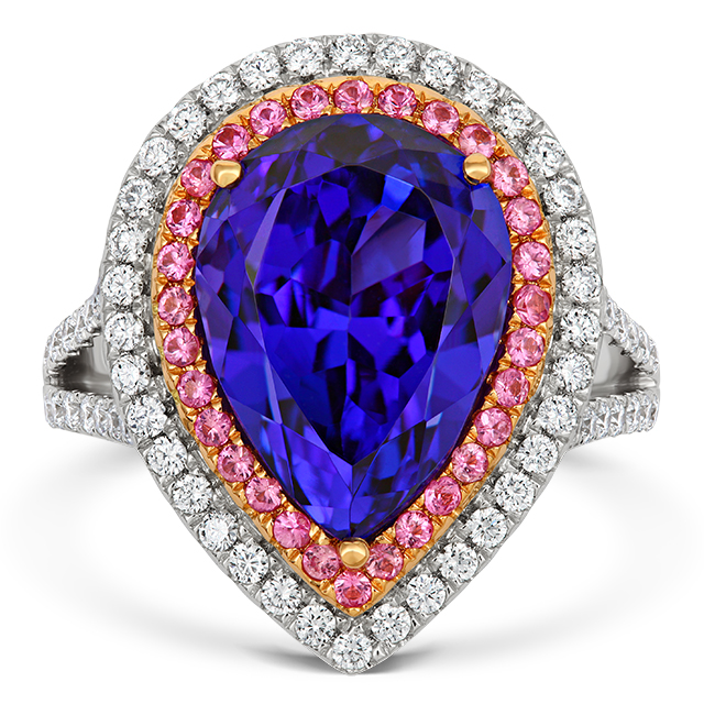 Tanzanite and Pink Sapphire Ring