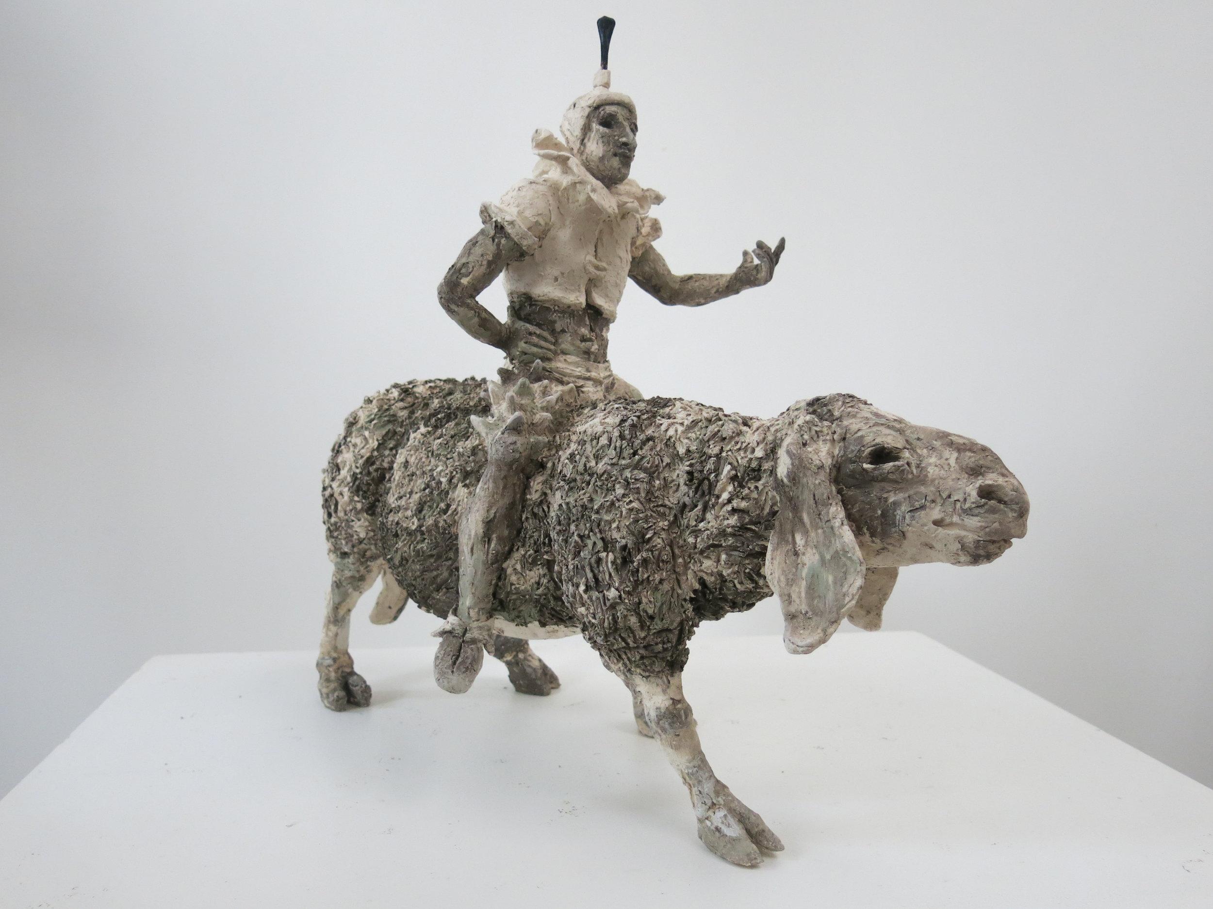 Voyageur sur mouton