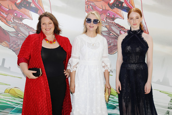 (L-R) Joanna Scanlan, Deborah Haywood and Lily Newmark attend the 'Pin Cushion' premiere during the 74th Venice Film Festival at on August 31, 2017 in Venice, Italy.