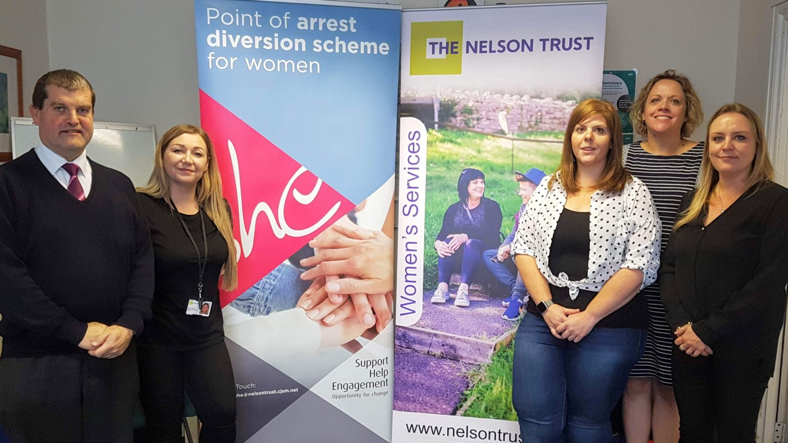 L-R-James-Freeman-of-First-Kirsty-Harris-and-Kate-Hebden-of-The-Nelson-Trust-Rebecca-Marshall-of-Avon-and-Somerset-Police-and-NIki-Gould-of-The-Nelson-Trust-at-the-opening-of-a-new-womens-centre-i-e1565860206164-1600x900.jpg