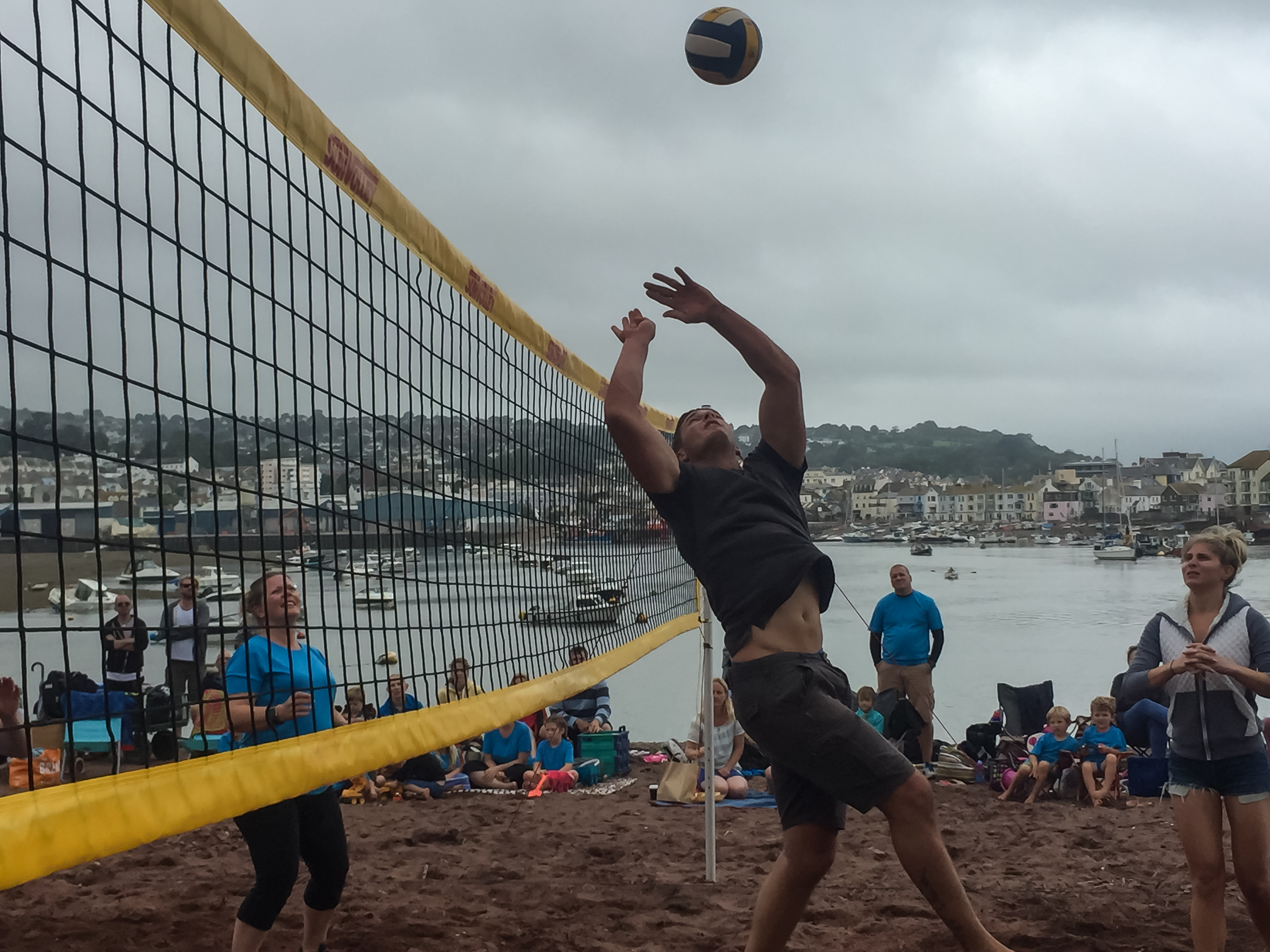 Highly contested beach volley ball matches