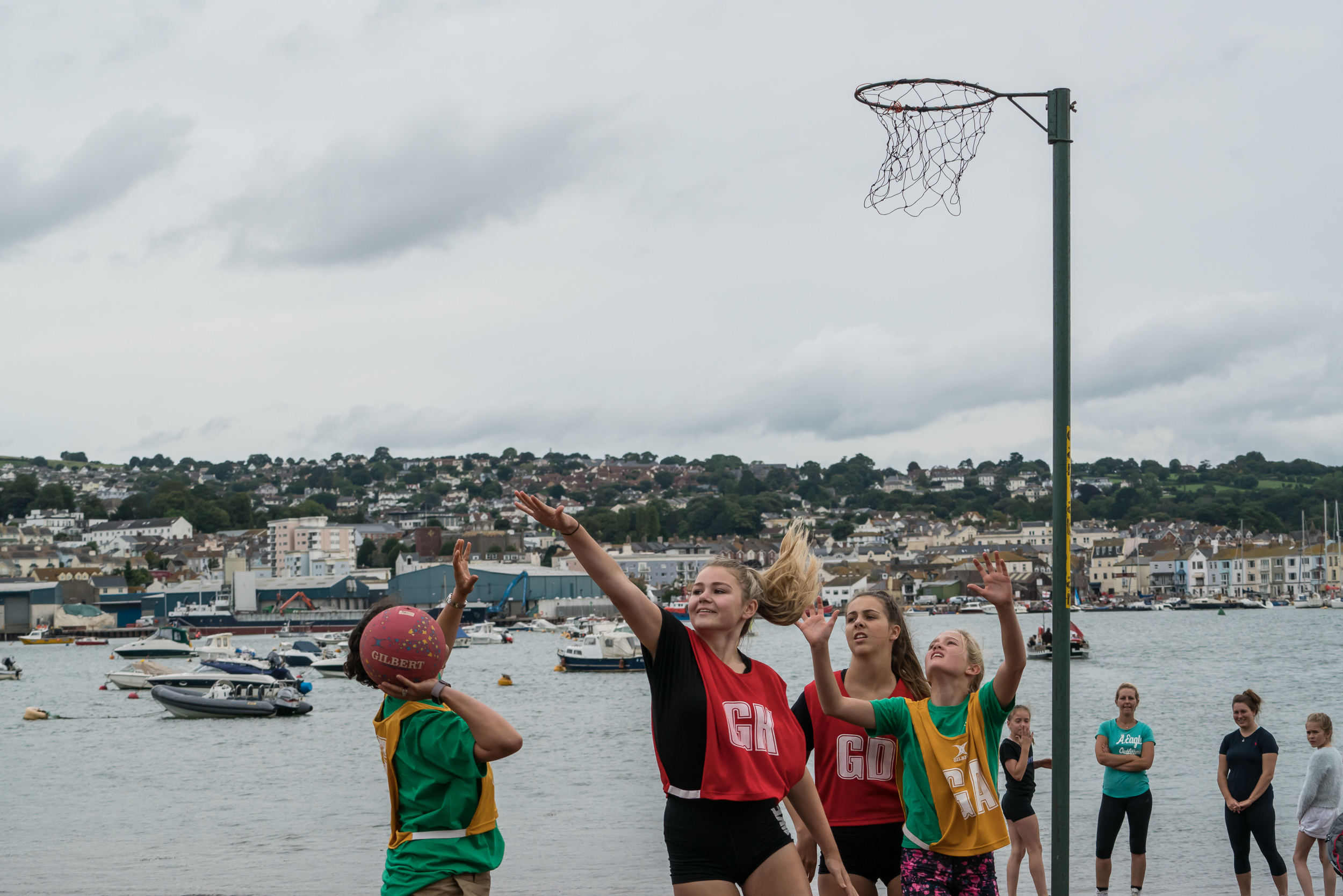 Beach netball - A new event to our regatta programme in 2017, it's already proved a huge success with some very highly contested matches! Teams of seven consisting of four adults and three aged 8-15 inclusive play to Shaldon rules. Entries are restricted and teams entered on a 'first come, first served' basis.