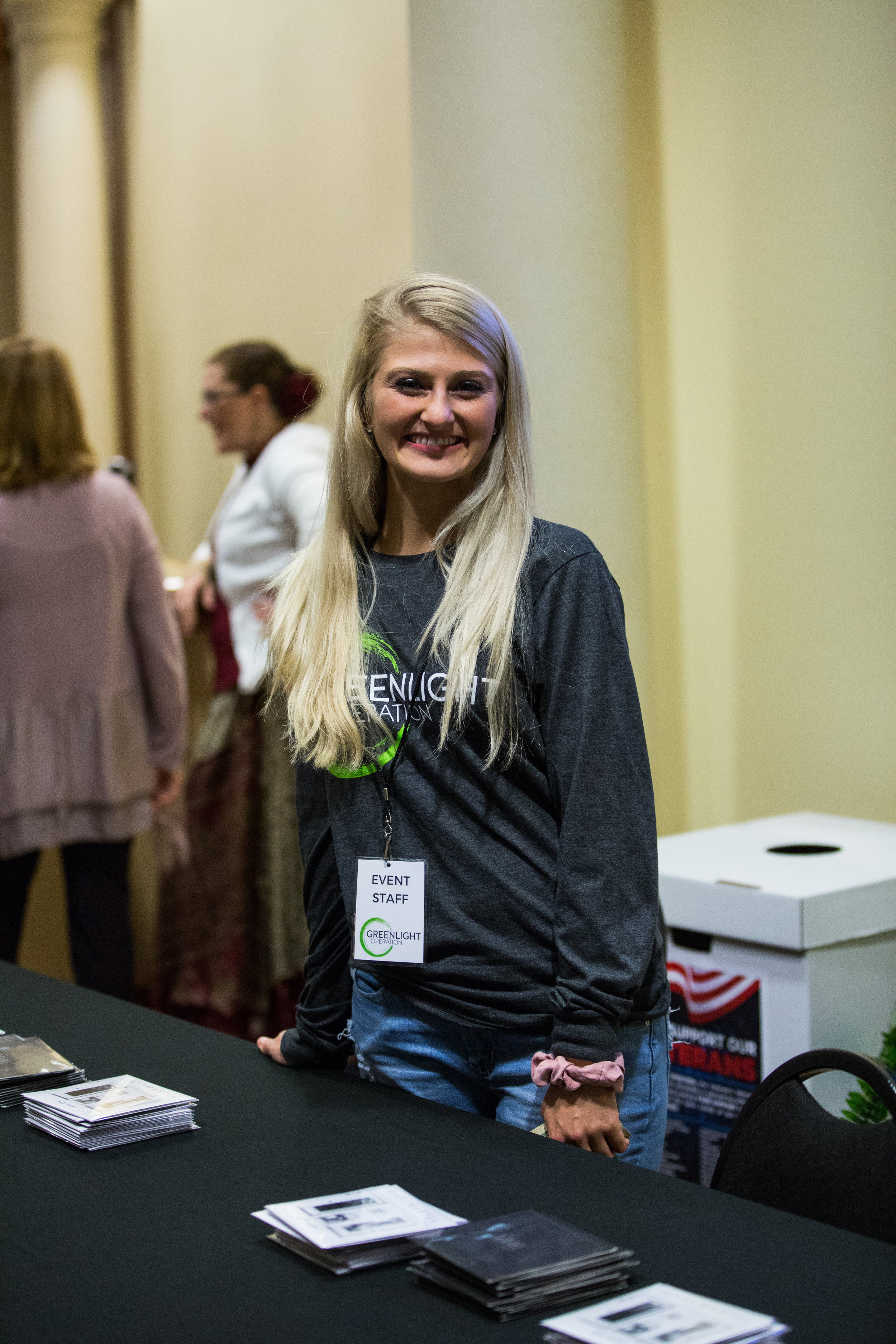 Volunteer, Katie Sechrist, at Breaking Chains