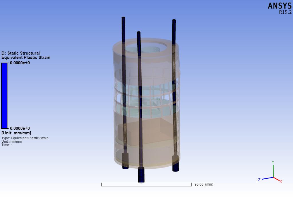 Εικόνα 9b  Πλαστική παραμόρφωση του δορυφόρου.
