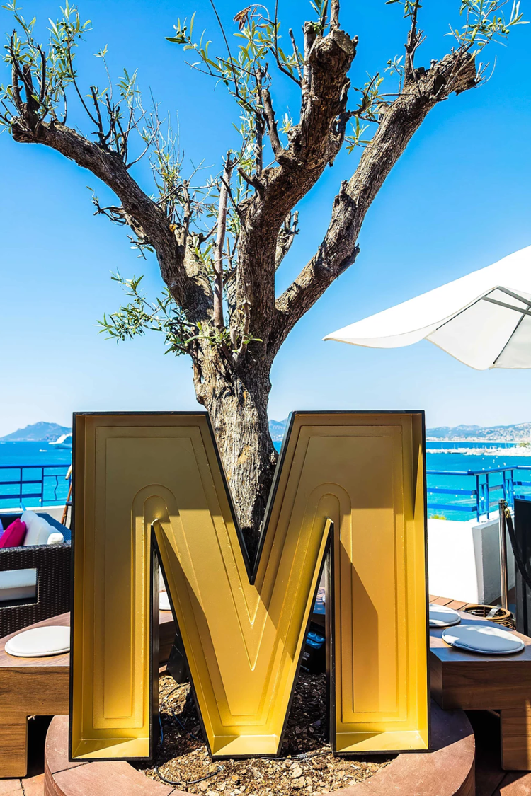 A big M for the Mediacom rooftop installation at Cannes Lions 2017
