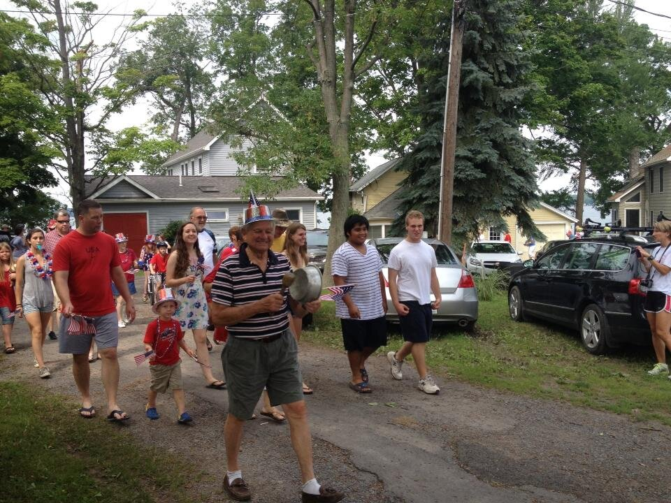 It's true: the neighbors organized a 4th of July parade every year