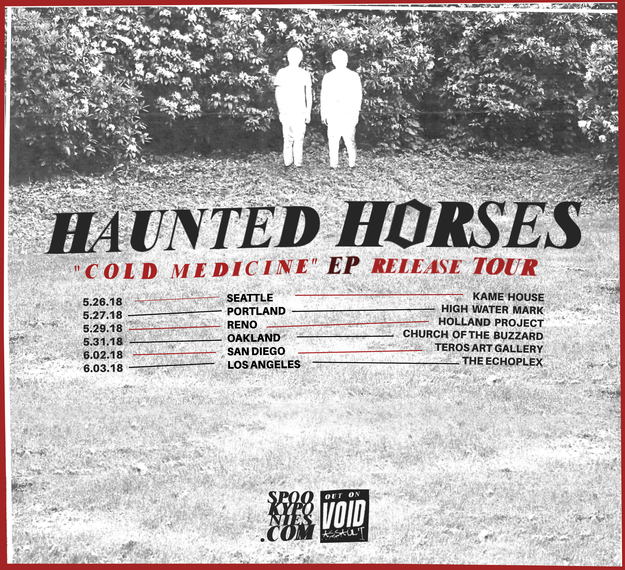 Haunted Horses 2018 West Coast Tour begins on May 26th.