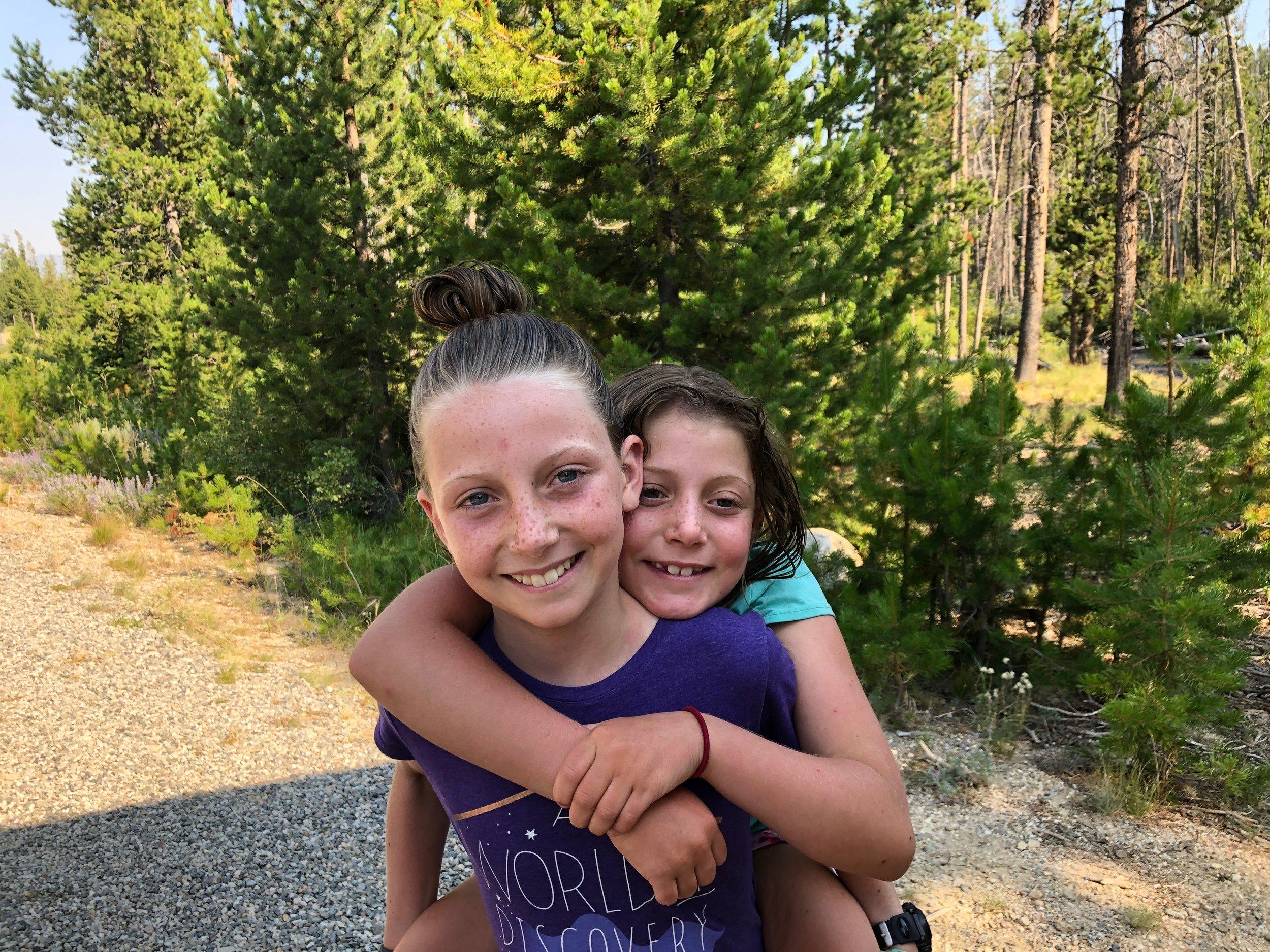 Freshly creek-cleaned girls!!