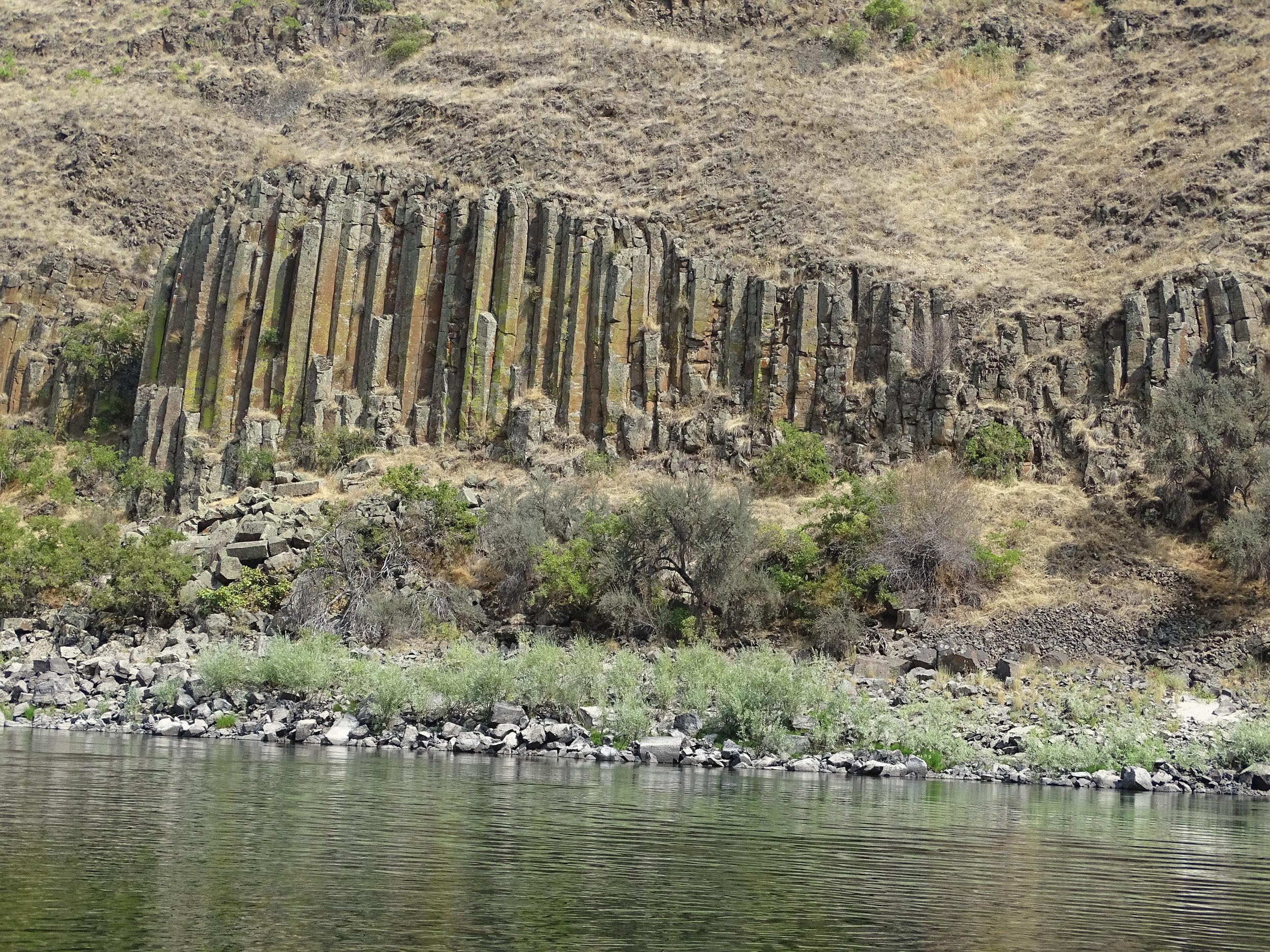 columnar basalt - the same rock that makes up Devil's Tower