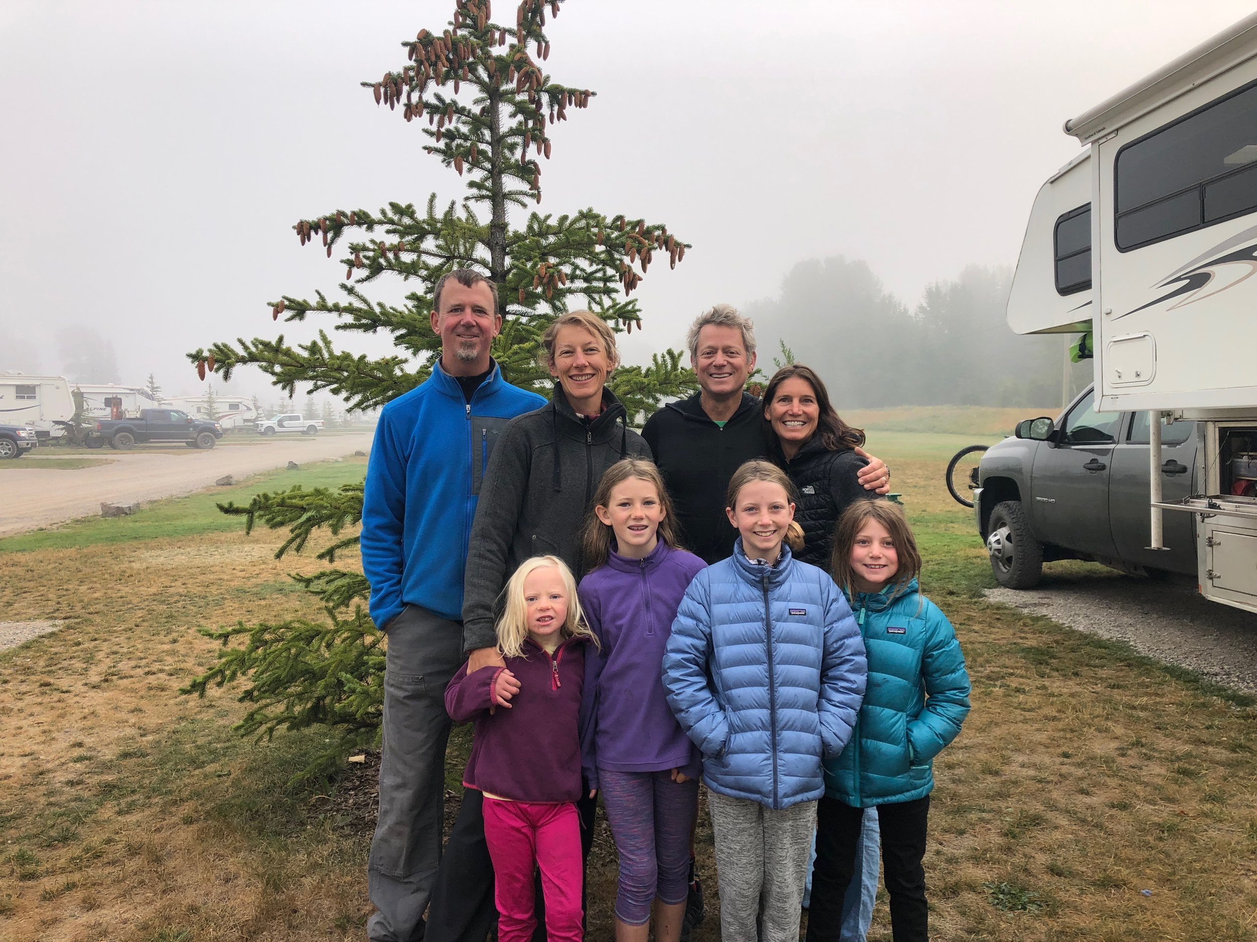 The Fernie, BC crew - the Schlich and Shaw families