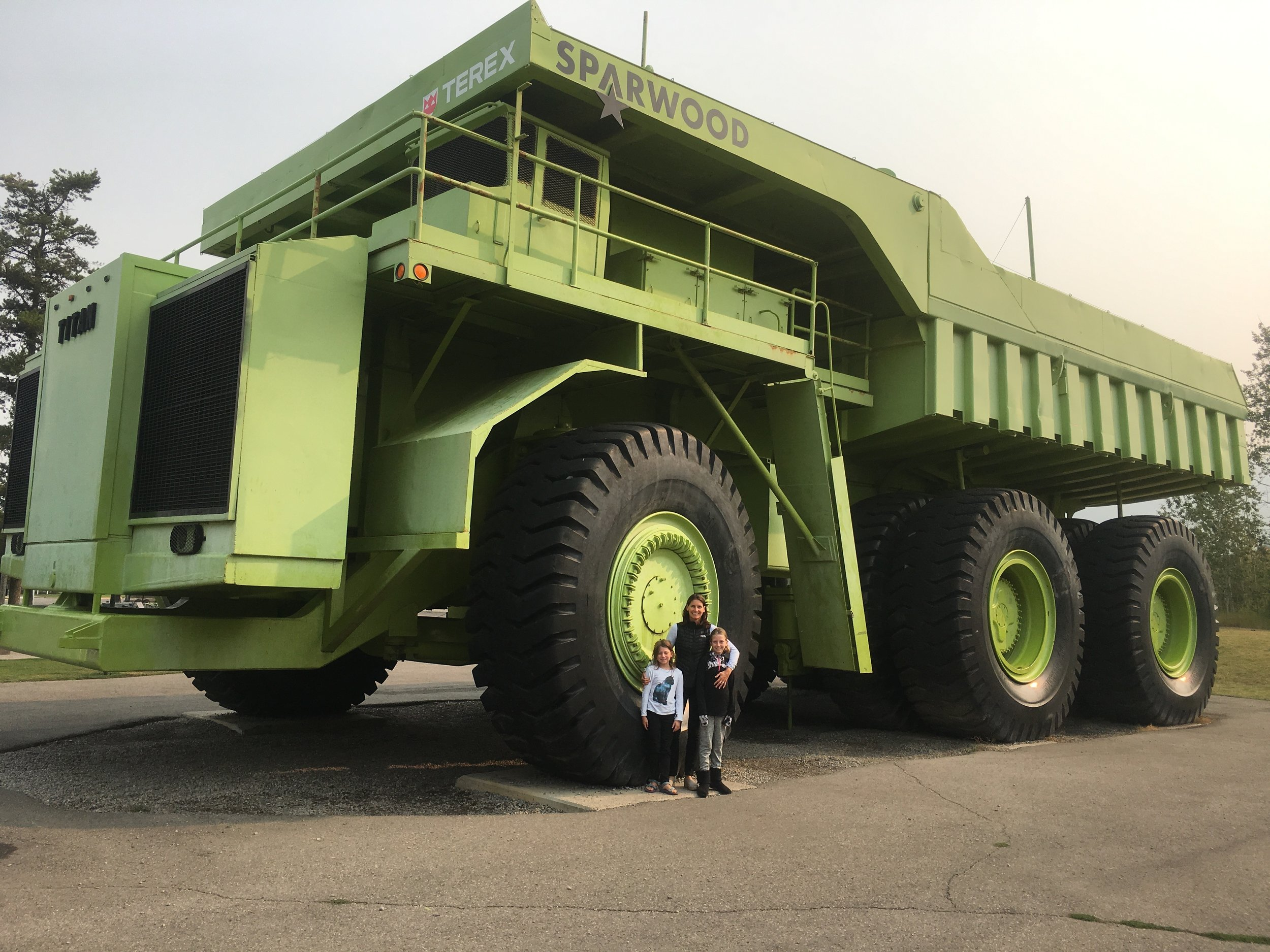 This truck was used for mining coal in the 80's.
