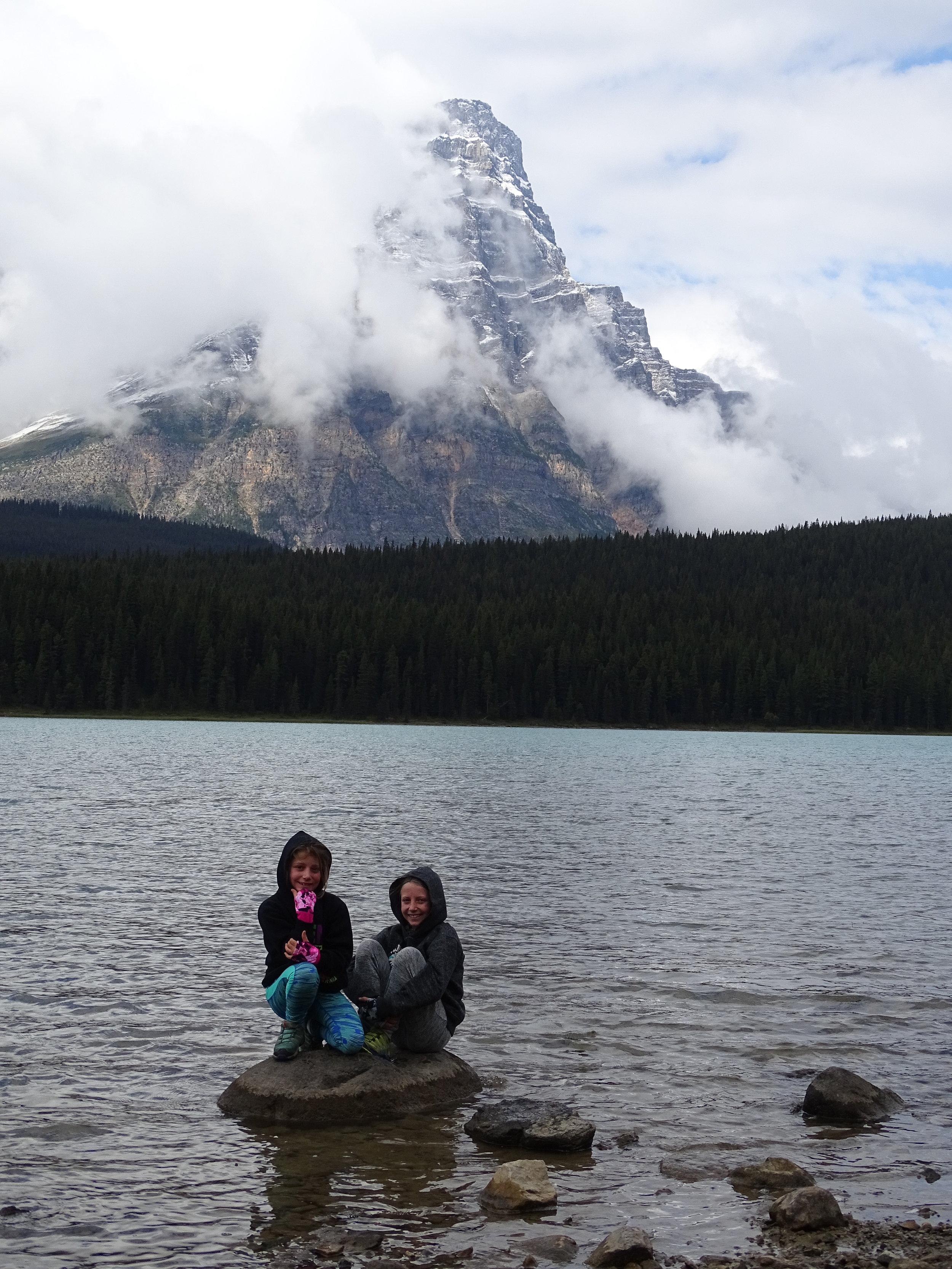 The girls at Waterfowl Lake