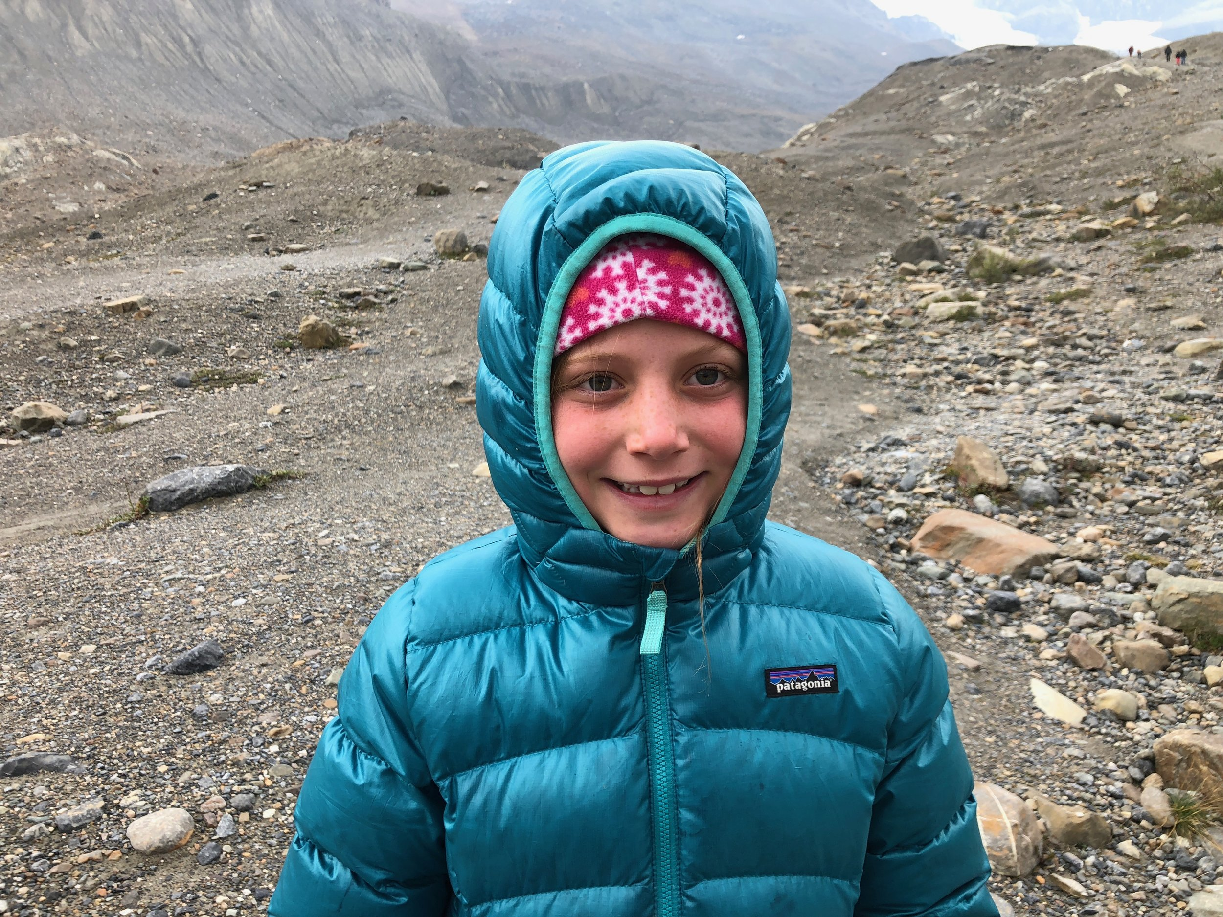 Bundled and ready to check out Athabasca Glacier