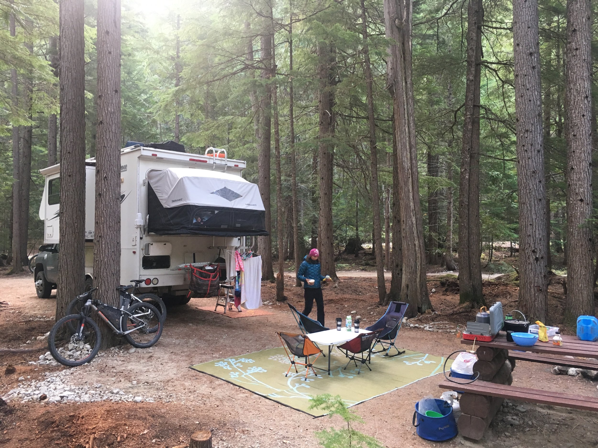 Our camp at halfway Hot Springs