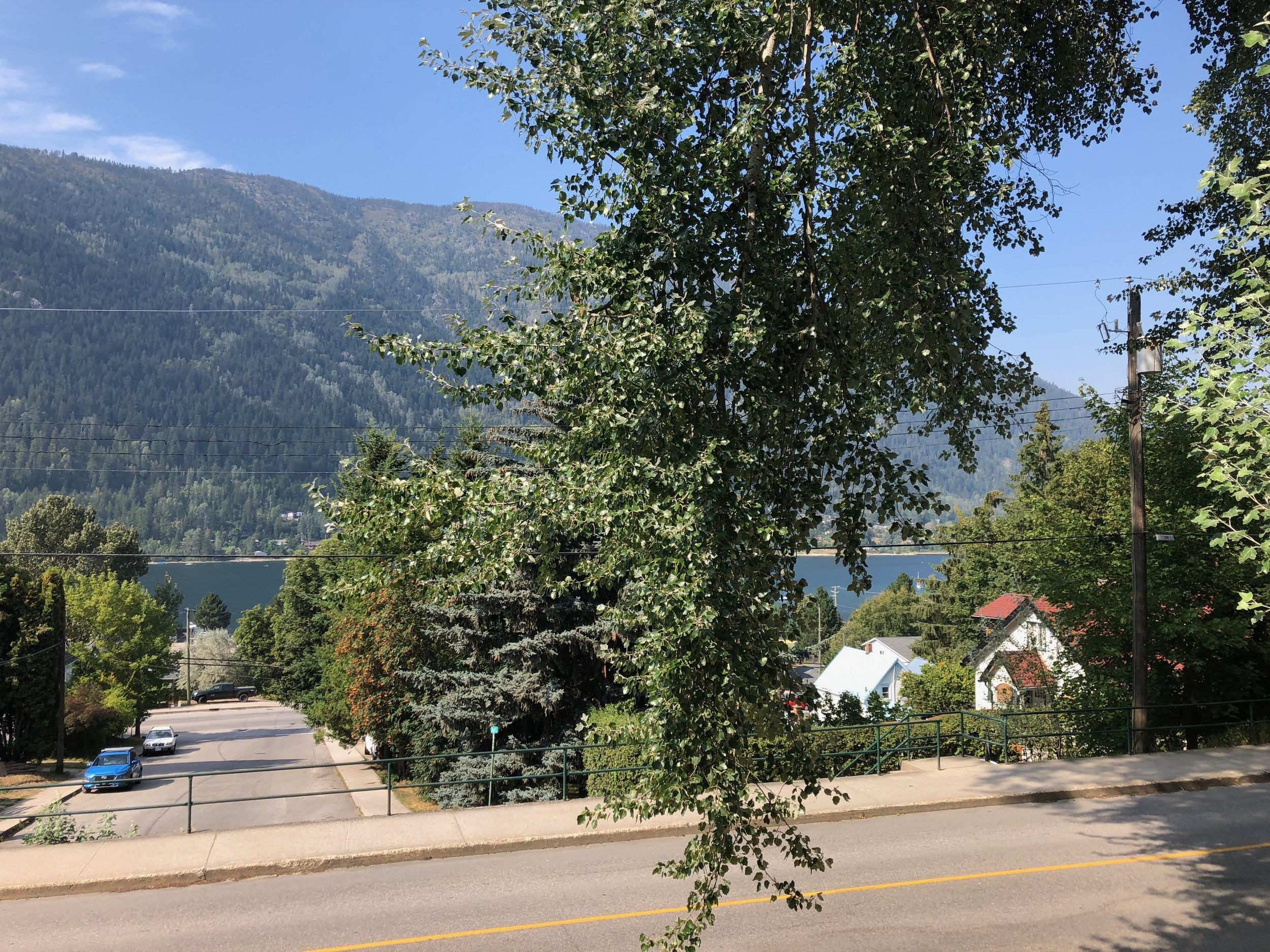 The view from the Nelson City Campground